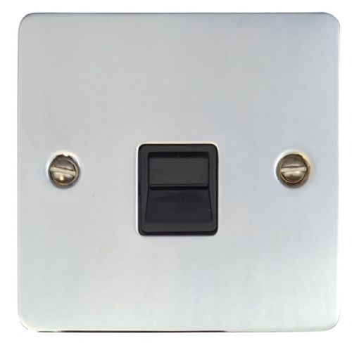 G&H FC34B Flat Plate Polished Chrome 1 Gang Slave BT Telephone Socket